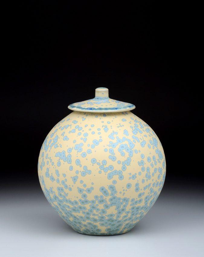 3190 Covered Jar – 7 1/2 x 6 1/2″